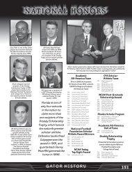 Academic All-America Team National Football ... - GatorZone.com