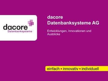 dacore Datenbanksysteme AG - Labor Management Konferenz