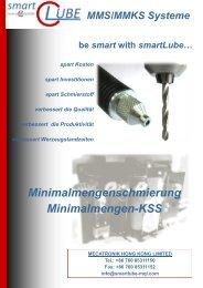 Minimalmengenschmierung Minimalmengen-KSS - smartLube by ...