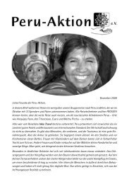 Wunder in Peru - Peru-Aktion