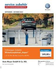 """Volkswagen Zubehör Winterkomplettrad """"Aspen"""" - Auto-Meyer KG"""