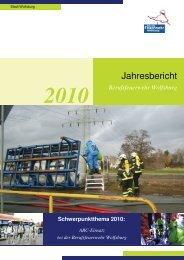 Jahresbericht Feuerwehr Wolfsburg 2010