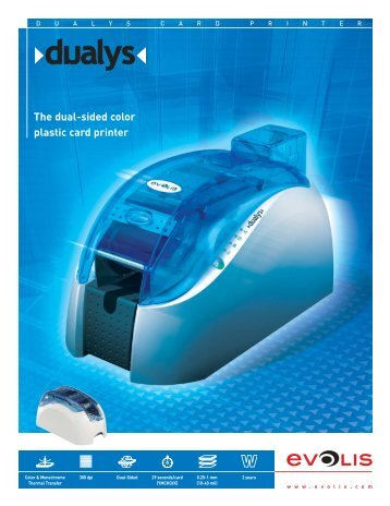 The dual-sided color plastic card printer