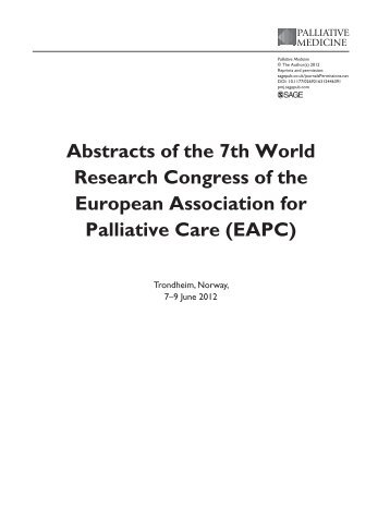 Abstracts of the 7th World Research Congress of the European ...