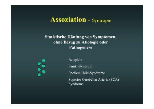 Klinische Syndrome mit Dysraphien - ASbH