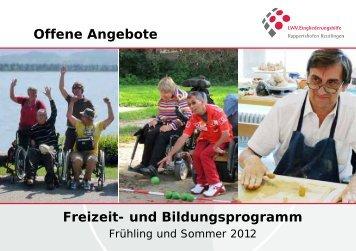 Freizeit - LWV.Eingliederungshilfe GmbH