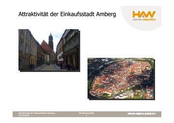 Studie I Attraktivität Einkaufsstadt Amberg - Stadtmarketing Amberg
