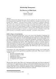 Relationship Management - Org-Portal.org
