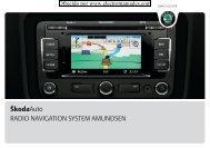 RADIO NAVIGATION SYSTEM AMUNDSEN ŠkodaAuto
