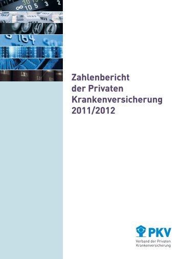 Zahlenbericht der Privaten Krankenversicherung 2011/2012