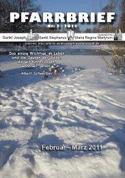 Februar - März 2011 PFARRBRIEF - St. Joseph, Siemensstadt