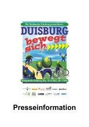 Pressekonferenz Regattabahnfest - Stadtsportbund Duisburg e.V.