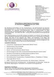 anmeldeformular - Deutsche Schmerzgesellschaft e.V.