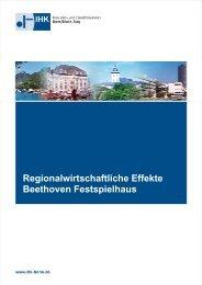 Regionalwirtschaftliche Effekte Beethoven Festspielhaus