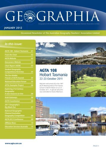 Affiliate News - Australian Geography Teachers Association