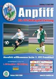 15. Spieltag/11 Uhr - 1. FFC Frankfurt e.V.