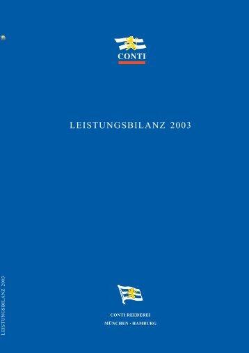 LEISTUNGSBILANZ 2003 - CONTI Unternehmensgruppe