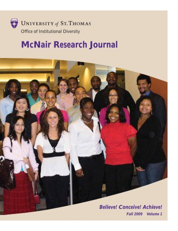 McNair Research Journal - University of St. Thomas