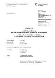 Bezirksausschuss des 5. Stadtbezirkes - Rathaus