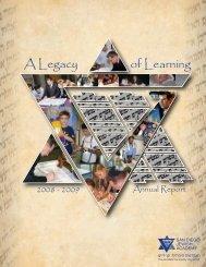 of Learning A Legacy - San Diego Jewish Academy