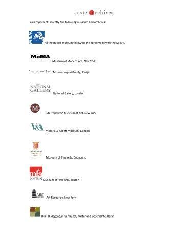 Scarica il PDF dei Musei principali presenti nell - Scala