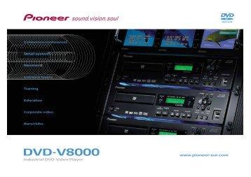 Pioneer DVD-V8000 Professional DVD Recorder