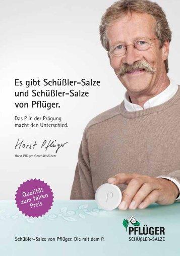 Schüßler-Salze - Homöopathisches Laboratorium A. Pflüger