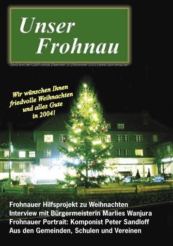 Frohnauer Hilfsprojekt zu Weihnachten Interview mit ...