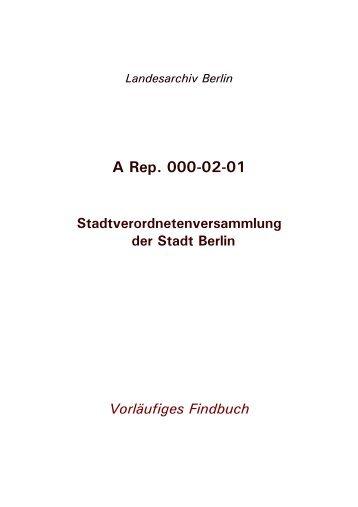 A Rep. 000-02-01 - Landesarchiv Berlin
