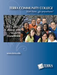 College Catalog - Terra Community College