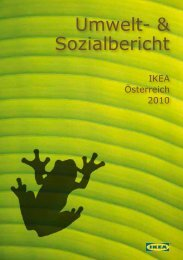 Umwelt- & Sozialbericht - Ikea