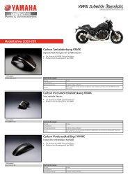 VMAX Zubehör Übersicht - Yamaha Motor Europe