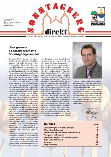 INHALT - Gemeinde Sonntagberg