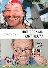 Niedermair Orpheum Programmzeitung 1. Ausgabe 2010 - Kabarett ...