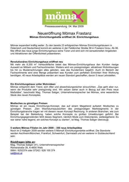 österreichs Größter Möbeldiskonter Eröffnet In Krems Mömax