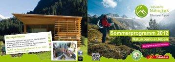 Sommerprogramm 2012 Natur(park).er.leben ... - Hotel Theresia