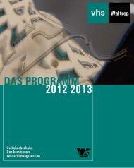 Gesamtprogramm 2012/2013 - Volkshochschule Waltrop