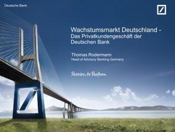 Neue Einlagenkampagne - Deutsche Bank