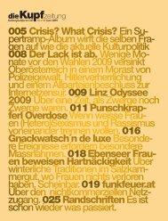 005Crisis? What Crisis?Ein Su- pertramp-Album wirft die ... - Kupf