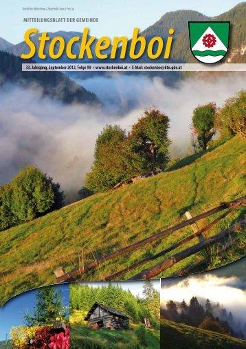 Ausgabe vom September 2012 - in Stockenboi!