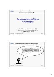 Betriebswirtschaftliche Grundlagen - Trilogo Renate Vochezer