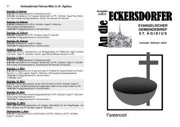 kinder - flohmarkt - Evangelische Kirchengemeinde Eckersdorf