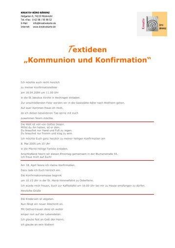 """Textideen """"Kommunion und Konfirmation"""""""