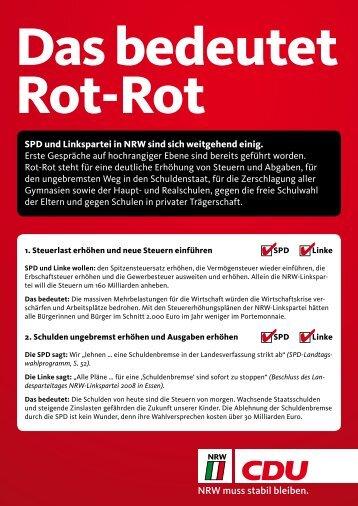 Das bedeutet Rot - CDU Steinfurt