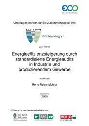 maßnahmen für die verschiedenen Produktions - WIN - Steiermark