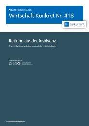 Wirtschaft Konkret Nr. 418 - Rettung aus der Insolvenz