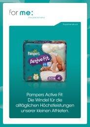 Pampers Active Fit: Die Windel für die alltäglichen ... - For Me