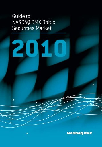 Guide to NASDAQ OMX Baltic Securities Market 2010