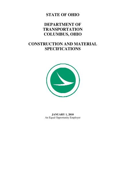 2010 Construction and Material Specifications - Ohio