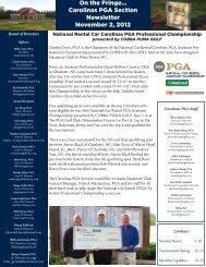 Golf 2.0 News - PGA Carolinas